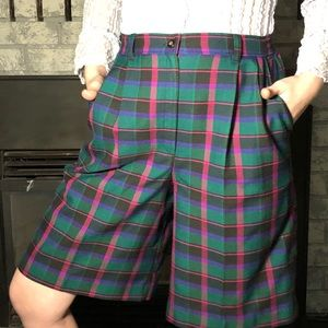 "Vintage ""Separate Scene"" Tartan/Plaid Shorts"